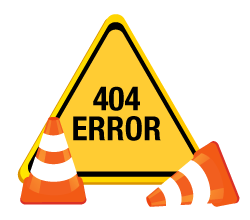 404 web error sign